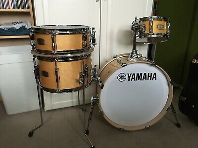 Yamaha Stage Custom Hip Kit Drum  Set - Natural - Immaculate Condition