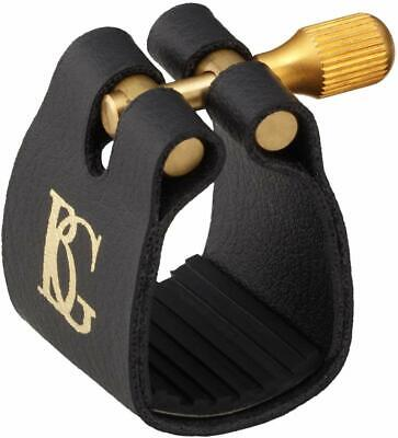 BG France L13 Ligature & Cap Tenor Sax Saxophone Fabric with Rubber support Gold