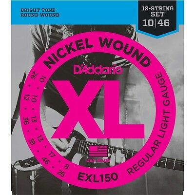 D'addario 5 Sets EXL150 Electric 12 String Strings • 30.61£