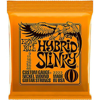 Ernie Ball Hybrid Slinky 2222 Electric Guitar Strings 9 - 46  • 7.99£