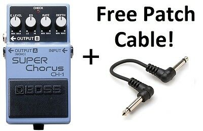 New Boss CH-1 Super Chorus Pedal FREE Patch Cable • 93.09£