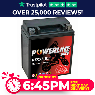 Powerline Replica Battery CTX7LBS YTX7LBS YTX7L-BS HONDA CB600 F2Y / F21 Hornet • 19.96£