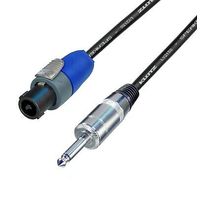 KLOTZ Neutrik Speakon To Jack 1/4  6.35mm Speaker Lead 1.5mm² 2 Core Cable • 15.05£