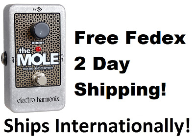 New Electro-Harmonix EHX Mole Bass Booster Guitar Effects Pedal (The Mole) • 39.19£