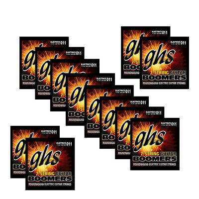 12-Pack GHS GB7MH Boomers 7-String Medium Heavy Electric Guitar 11-64 • 73.79£