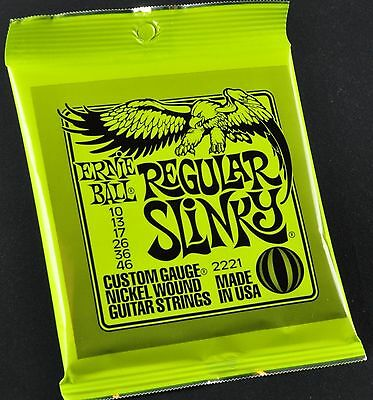 Ernie Ball Regular Slinky 10-46 2221 Electric Guitar Strings • 7.32£
