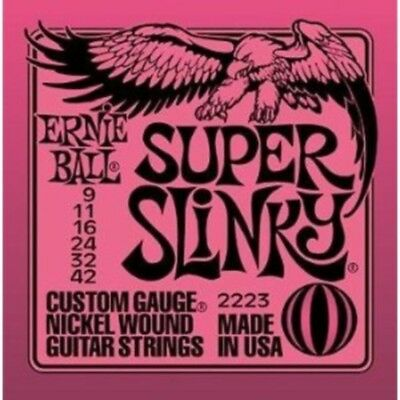 Ernie Ball Super Slinky 9-42 2223 Electric Guitar Strings • 7.71£