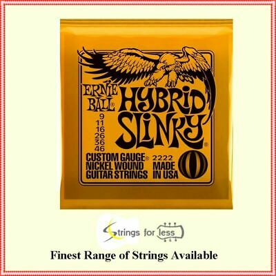 Ernie Ball Hybrid 2222 Slinky Nickel Wound  .009 - .046  Electric Guitar Strings • 8.84£