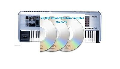 25,000 Roland Fantom X6, G6, And G8 Sounds Samples On CD Sound Kit WAV Files • 46.59£
