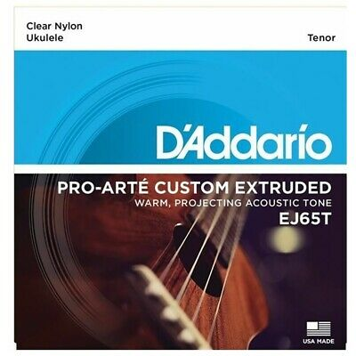 D'Addario EJ65T Pro-Arté Custom Extruded Tenor  Ukulele Strings Set  • 8.28£