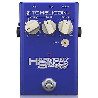 TC Helicon Harmony Singer 2 Vocal Processing USB Tone Control Reverb Pedal • 153.12£