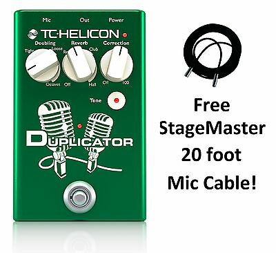 New TC-Helicon VoiceTone Duplicator Doubling/Reverb/Pitch Correction Vocal Pedal • 92.33£