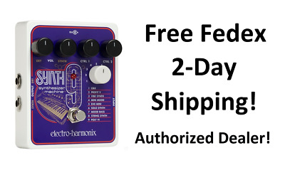 New Electro-Harmonix EHX SYNTH9 Synthesizer Machine Guitar Pedal Synth 9 • 158.35£