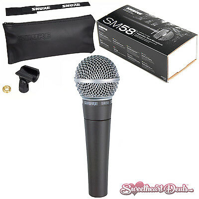 Shure SM58 Vocal Dynamic Live And Recording Microphone SM58-LC • 78.86£