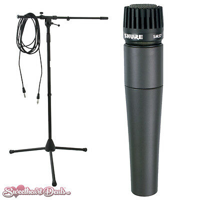 Shure SM57 Dynamic Instrument Microphone With Boom Stand And Cable • 119.07£