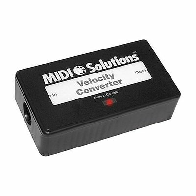 MIDI Solutions Velocity Converter Applies Selected Velocity Curves To MIDI Notes • 108.48£