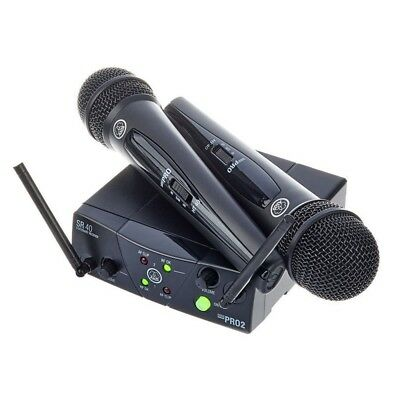 AKG WMS 40 MINI DUAL VOCAL SET (ISM 2/3) Ricevitore + Coppia Microfoni Wireless • 128.33£
