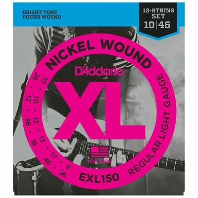 D'Addario EXL150 Nickel Wound Light 12-String Electric Guitar Strings 10 - 46  • 11.09£