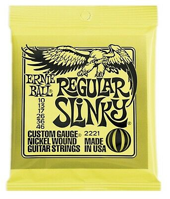 Ernie Ball 2221 Electric Guitar Strings, Regular Slinky .010-.046 • 3.61£