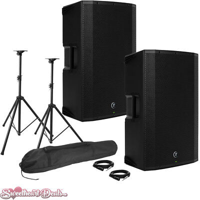 Pair Of Mackie Thump15A 1300W 15  Class-D Powered PA Loudspeakers - Live Bundle • 620.95£