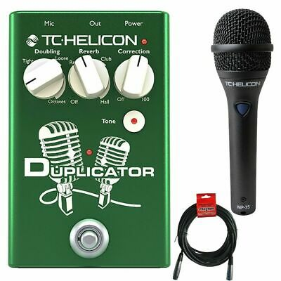 TC Helicon Duplicator Vocal Effects Pedal With MP75 Microphone And XLR Cable • 241.61£