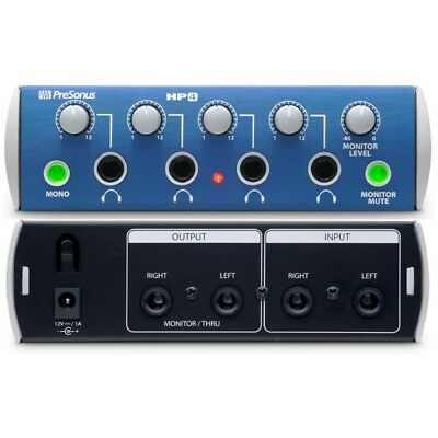 NEW Presonus HP4 4 Channel Headphone Amplifier • 94.31£