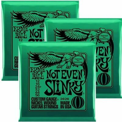 3 Sets Ernie Ball Not Even Slinky  Set, .012 - .056 Electric Guitar Strings • 25.05£