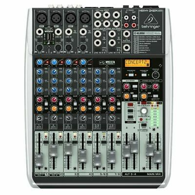 Behringer Xenyx QX1204USB 12-Input USB Audio Mixer With Effects • 230.91£