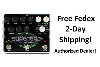 New Electro-Harmonix EHX Superego Plus Polyphonic Synth Engine Guitar Pedal • 192.86£