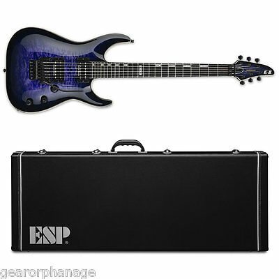 ESP E-II Horizon QM FR Reindeer Blue RDB Electric Guitar NEW W/ Hardshell Case • 1,442.02£