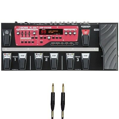Boss RC-300 Loop Station Stereo Looper Pedal + Free 10' Mogami Instrument Cable • 428.32£