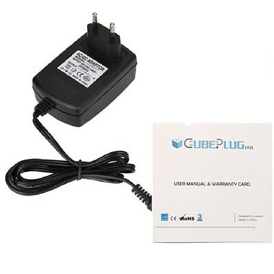 CubePlug Power Supply For Boss RC-3 Loop Pedal Station PSU 9V DC 1A EU • 9.57£