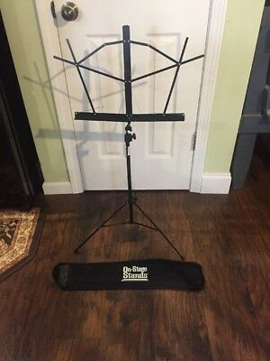 On-Stage SM7122BB Compact Sheet Music Stand Black With Carrying Bag • 9.95£