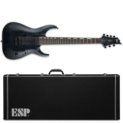 ESP LTD H-1007 FM See Thru Black STBLK Duncan 7-String Guitar + Hard Case 2018 • 906.68£
