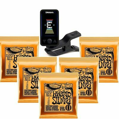 Planet Waves Eclipse Clip-On Tuner 5 Sets Of Ernie Ball Electric Strings 2222 • 37£
