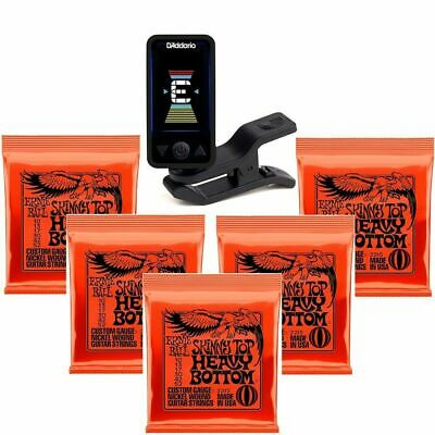 Planet Waves Eclipse Clip-On Tuner 5 Sets Of Ernie Ball Electric Strings 2215 • 37.77£