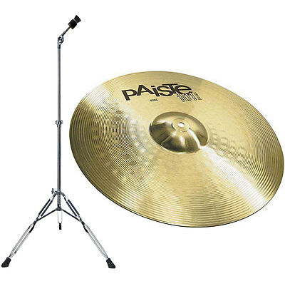 Paiste 101 Messing 20   Ride Cymbals + Cymbal Stand Straight • 94.84£