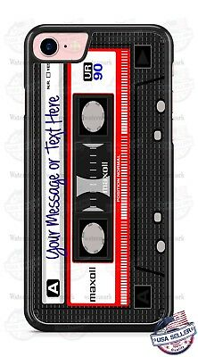 RELOOP TAPE RECORDER CASSETTE PHONE CASE COVER FOR IPHONE SAMSUNG Etc ANY TEXT • 14.95£