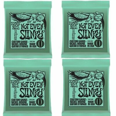 4 Sets Ernie Ball Not Even Slinky Nickel Wound Set Electric Guitar Strings 12-56 • 29.95£
