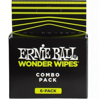 Ernie Ball Wonder Wipes Mixed 6 Pack Fretboard Cond, String Cleaner And Polish • 4.41£
