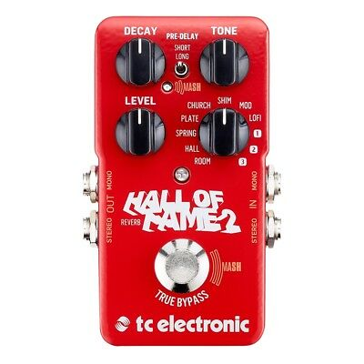 TC Electronic Hall Of Fame 2 Reverb Guitar Effects Pedal True Bypass Stompbox • 113.56£