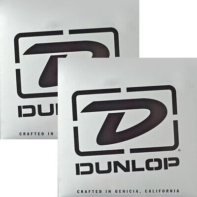 2-Pack Dunlop DBSBN45125T Super Bright Nickel Tapered Bass 5-String Set 45-125 • 63.17£