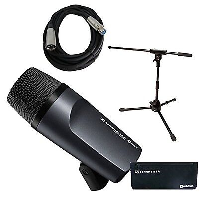 Sennheiser E 602-II Bass / Kick Drum Mic With Short Mic Stand & Cable Bundle • 159.42£