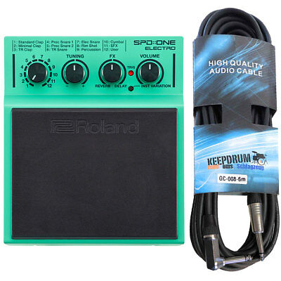Roland SPD One Electro Percussion Pad + Keepdrum Jack Cable 19.69ft • 209.64£