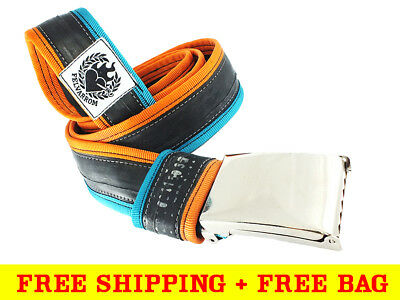 NON-LEATHER BELT With SNAP BUCKLE From Recycled BikeTube + FREE DELIVERY • 34.99£