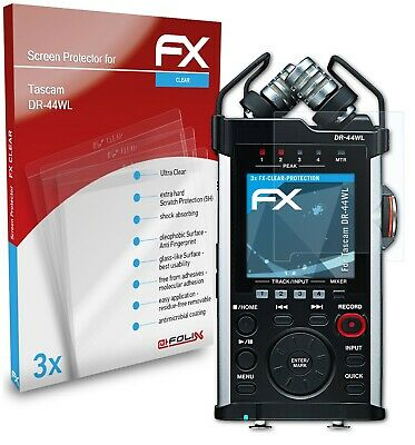 AtFoliX 3x Screen Protection Film For Tascam DR-44WL Screen Protector Clear • 6.59£