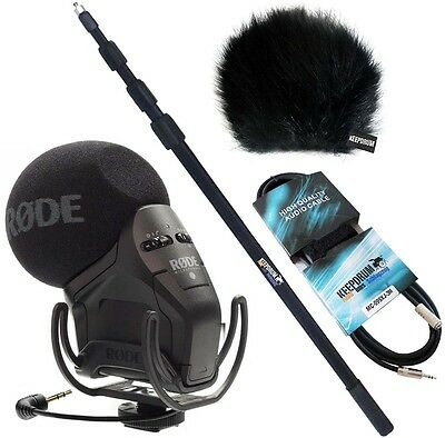 Rode Svmpr Stereo Videomic Pro Rycote Keepdrum Bundle Incl Boom • 260.22£