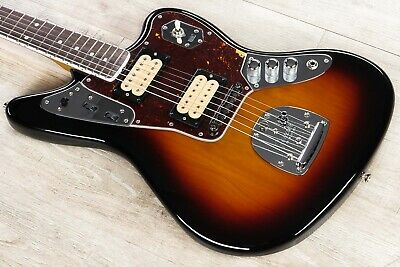 Fender Kurt Cobain Jaguar NOS Electric Guitar Rosewood 3-Tone Sunburst + Case • 999.26£