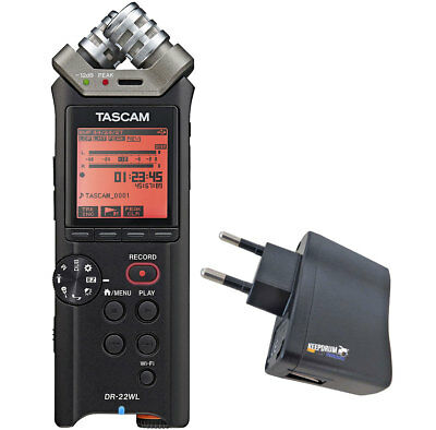 Tascam DR-22WL Audio Recorder+Keepdrum Power Supply • 139.65£