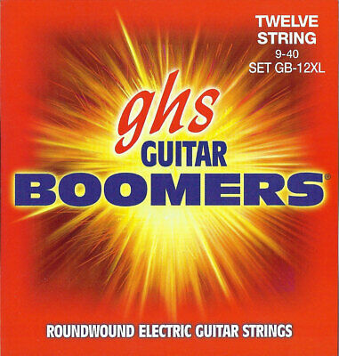 GHS GB-12XL Boomers 12-string Electric Guitar Strings, Extra Light .009-.040 • 7.86£